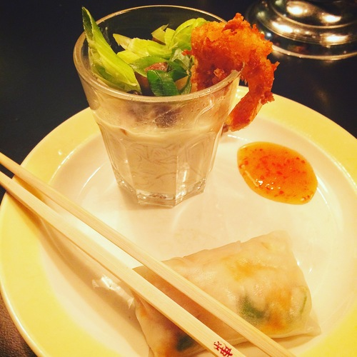 #tom_yam_kung #crabspringroll_on_the_side