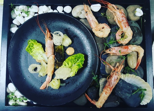 Prawn cocktail, new way of presentation,