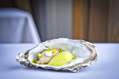 Oyster, dill and celery