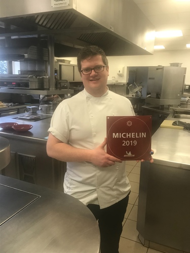 The Michelin star plaque came this week!!!!