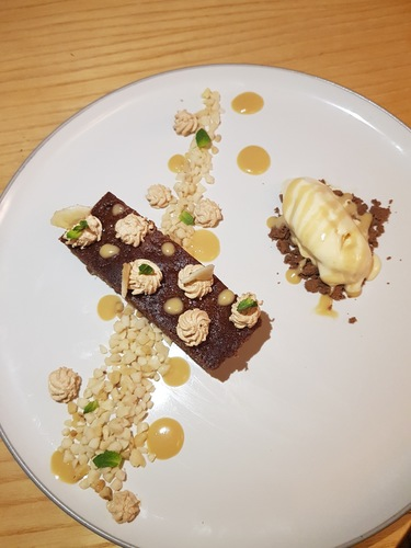 Sticky toffee banana pudding hazelnut granola coffee cream vanilla ice cream @chefphilip127