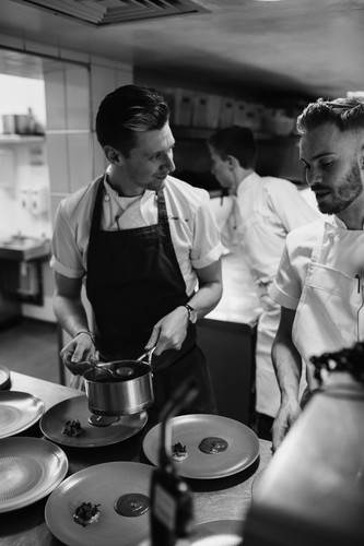 Chefs Tom Peters and Jamie Park fundraising for the Brathay Trust in memory of Matt Campbell
