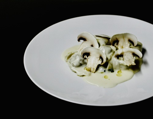 Cepes and truffle homemade tortellini :yum: