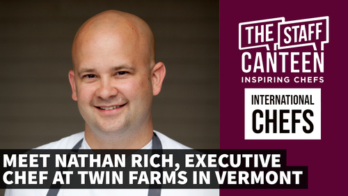 Nathan Rich, executive chef, Twin Farms