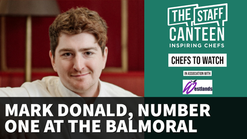 Mark Donald, head chef, Number One at The Balmoral