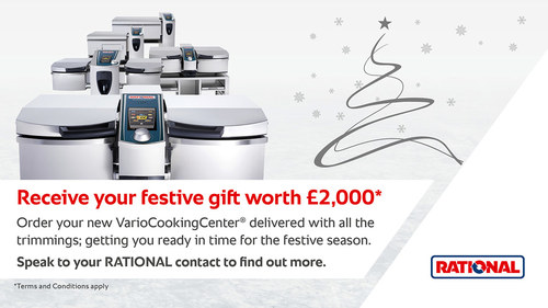 Festive gift worth £2,000* - it's the season of goodwill. Order your new VarioCookingCenter delivered with all the trimmings; getting you ready in time for the festive season. https://bddy.me/34R1IKX :chri