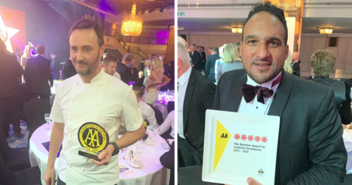 Jason Atherton wins Chefs' Chef and Lympstone Manor gets 5 rosettes in the AA Restaurant Guide 2020