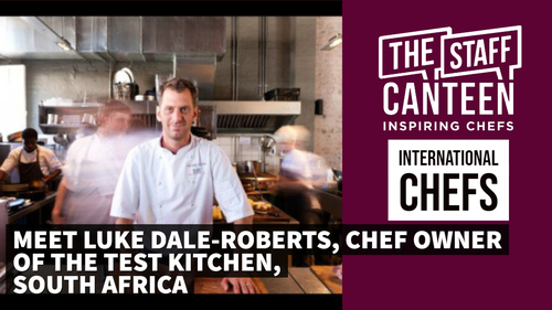 Luke Dale-Roberts, chef owner, The Test Kitchen