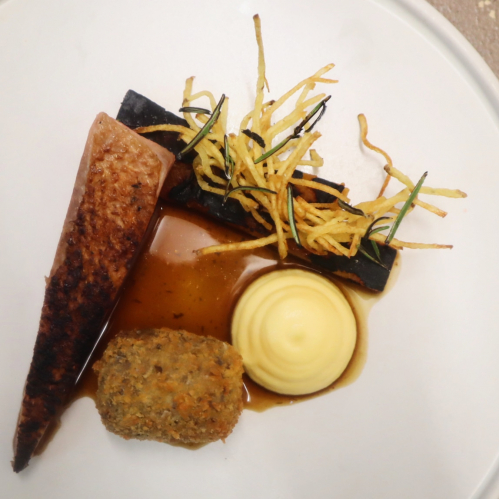 'Fair fa' your honest, sonsie face, Great chieftain o' the pudding-race!' Whisky and burnt rosemerry cured duck, confit duck and haggis croquette, neeps, tatties and whisky.  Happy Burns day