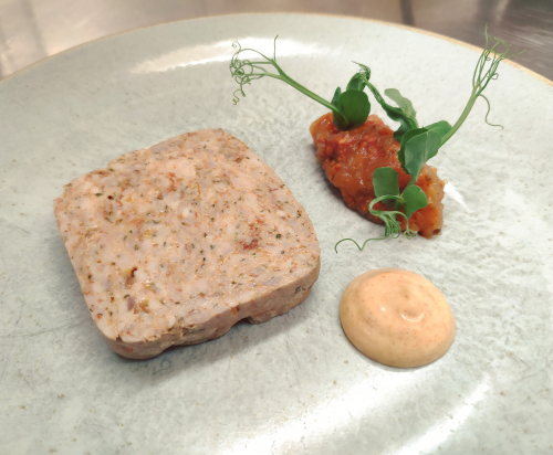 Ayrshire Pork and Smoked Paprika Terrine with Chorizo and Apple Jam