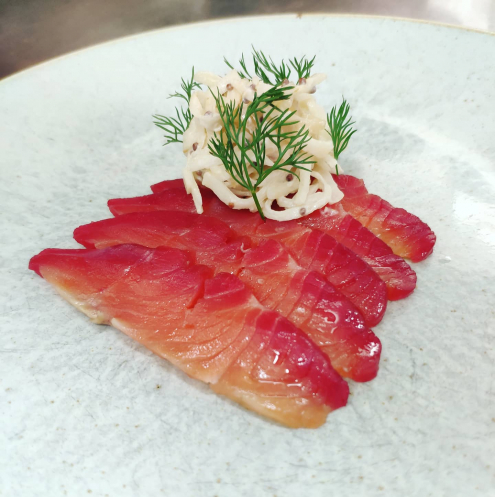 Beetroot Cured Loch Etive Trout, Celeriac Remoulade, Dill