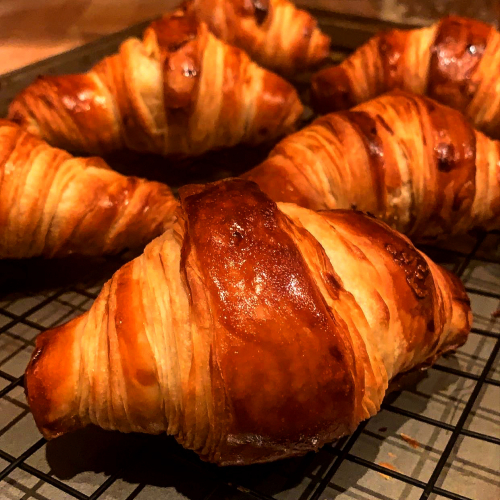 Croissant making at home
