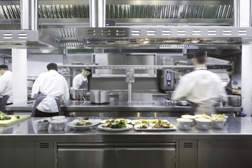 Restaurant Kitchen at the OXO Tower Restaurant