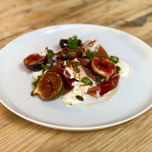 Parma ham, fig, yogurt, honey & spice