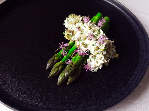 Lunan Bay Asparagus, Gribiche and Alliums