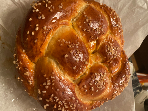 Traditional Bulgarian Easter bread - kozunak