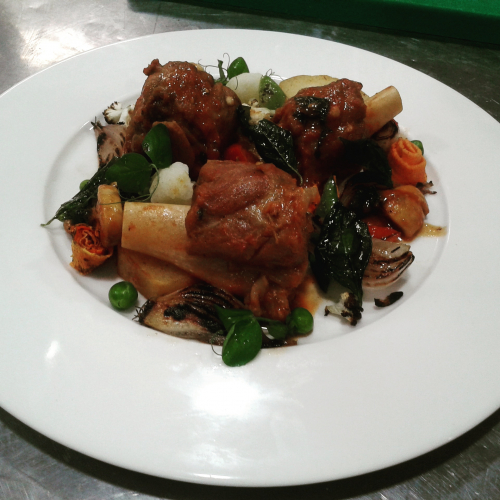 Braised lamb shank report from @imchefgovinda_k.c