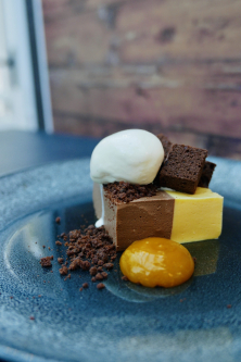 Chocolate and passion fruit