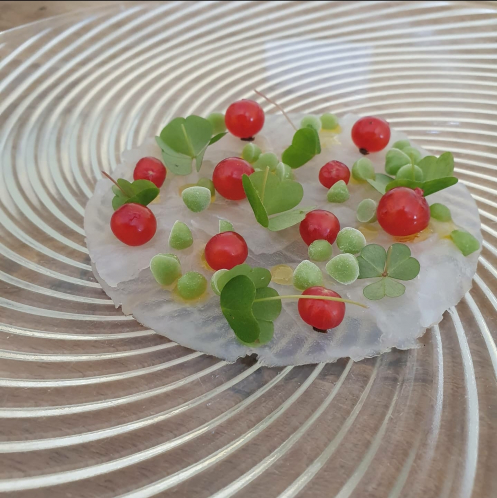 Cod, Red Currants, Wood Sorrel, Pine