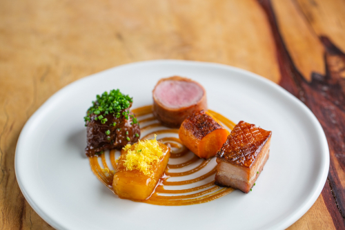 Pork , pineapple , pork fat carrot