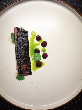 Mackerel, Granny Smith, Lime & Vodka Jelly, Beetroot, Dill