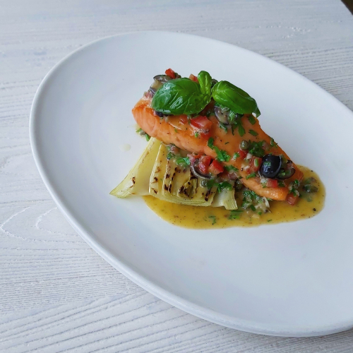 Pan seared Irish salmon, braised fennel, puttanesca butter sauce. This dish is both delicious and light! Puttanesca has to be one of my favourite flavour combinations. New to the menu at Sienna's