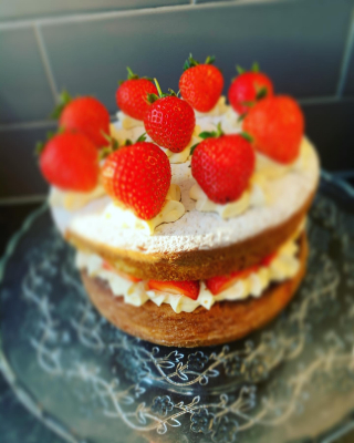 The timeless classic Victoria sponge cake.