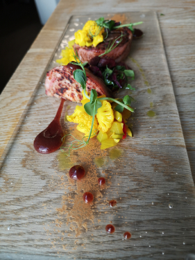 Pressing of Mixed Game, Prune ketchup, Piccalilli