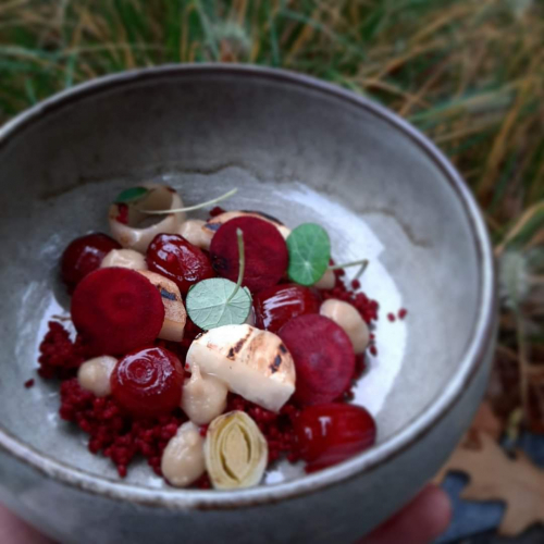 Beetrooth and onions