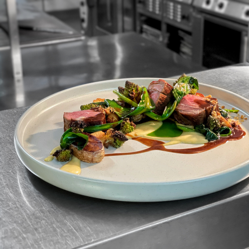 Welsh Lamb Rump • Curried Cauliflower • Smoked Brioche • Sea Aster