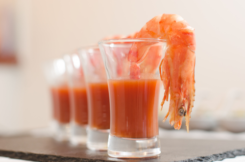 Prawn bloody mary