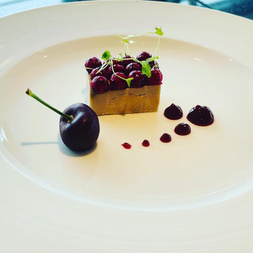 Goose liver / cherry 🍒 / beetroot