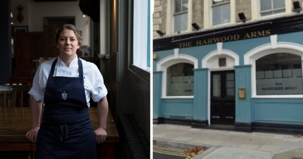 Sally Abé celebrates as Michelin-starred The Harwood Arms named best gastropub in the UK