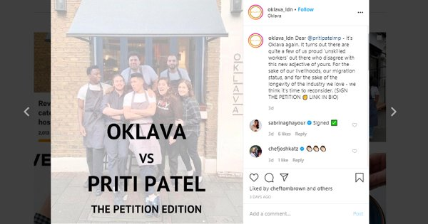Oklava chef Selin Kiazim's petition against labelling hospitality work as 'unskilled' hits signature target