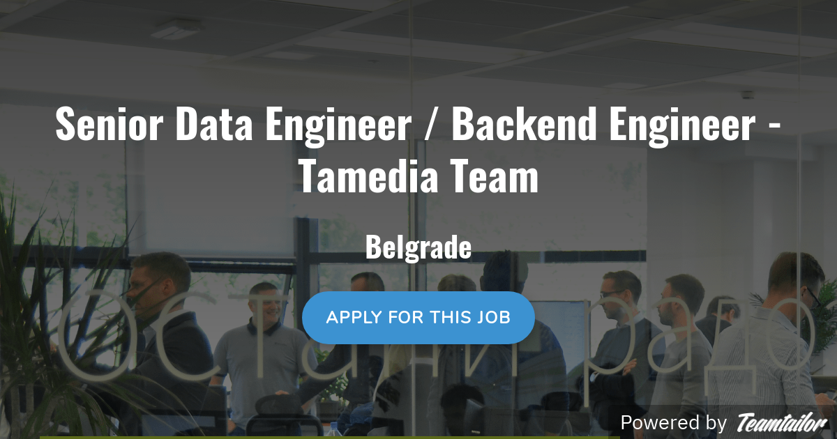 Senior Data Engineer / Backend Engineer - Tamedia Team