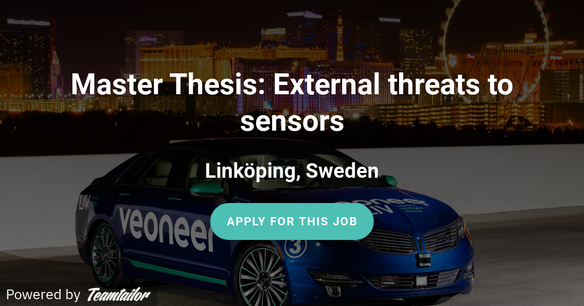 Master thesis company sweden