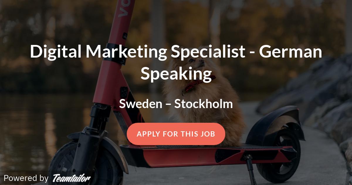 german speaking jobs stockholm