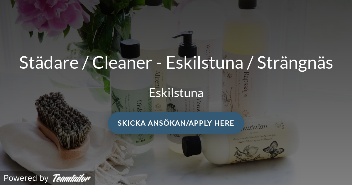Städare Cleaner Eskilstuna Strängnäs Strängnäs