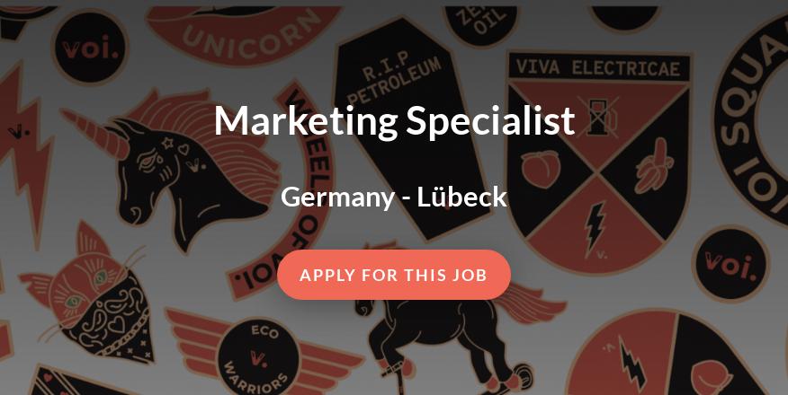 Marketing Specialist - VOI Technology AB