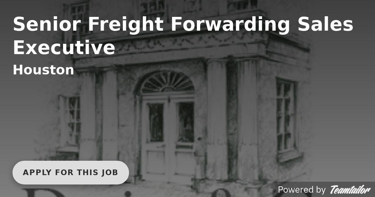 Senior Freight Forwarding Sales Executive - Darius & Company