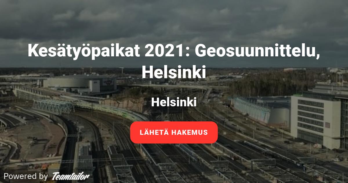 Kesätyöpaikat Helsinki