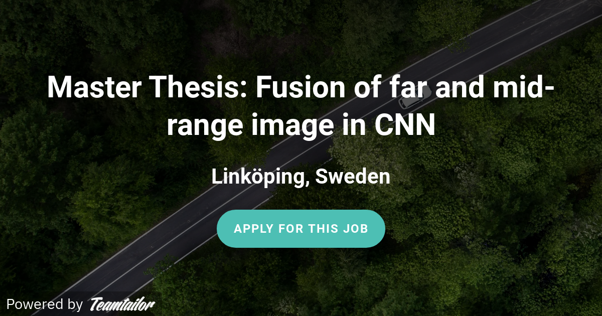 Master thesis jobs sweden