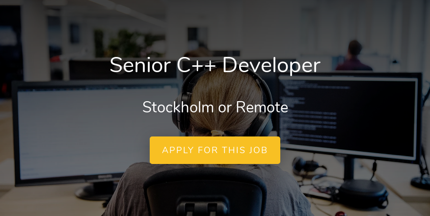 Senior C++ Developer - Flightradar24