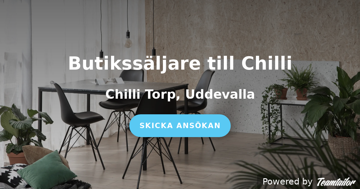 Kända Butikssäljare till Chilli - Home Furnishing Nordic YW-55