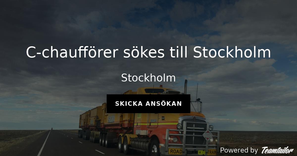 c körkort stockholm