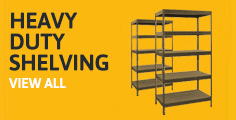 Heavy shelving static