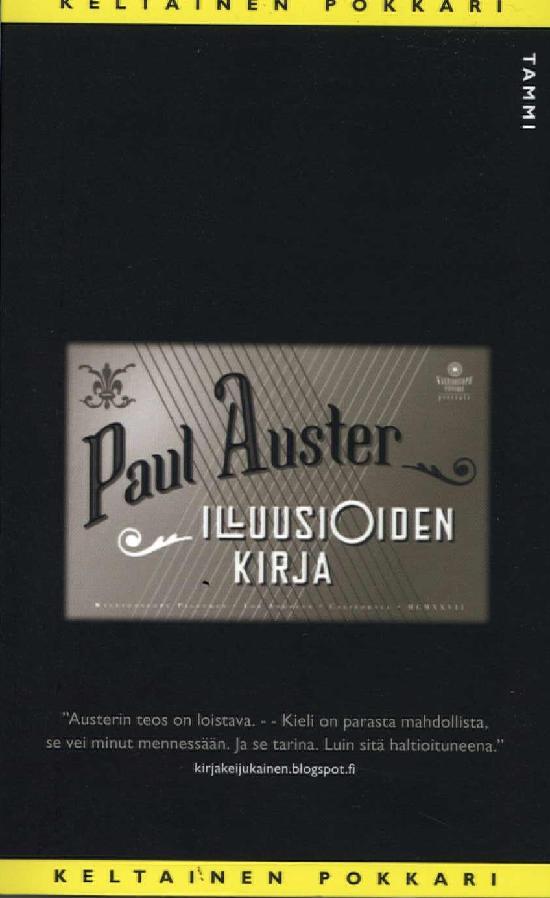 Auster, Paul: Illuusioiden kirja (KP78)