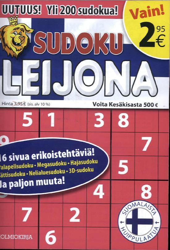 Sudoku Leijona 4/2017