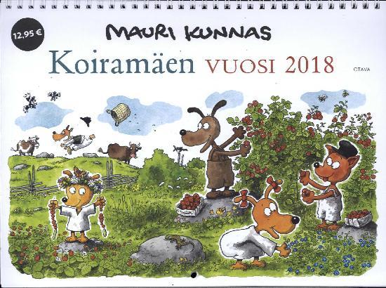 Mauri Kunnaksen Seinäkalenteri 2018