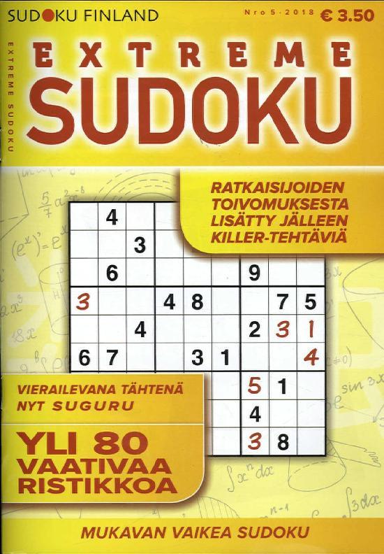 Extreme Sudoku - Sudokut - Ristikot - Aikakauslehdet